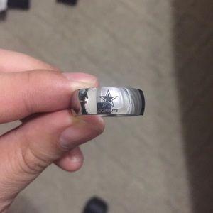 8mm Silver Dallas Cowboys Ring